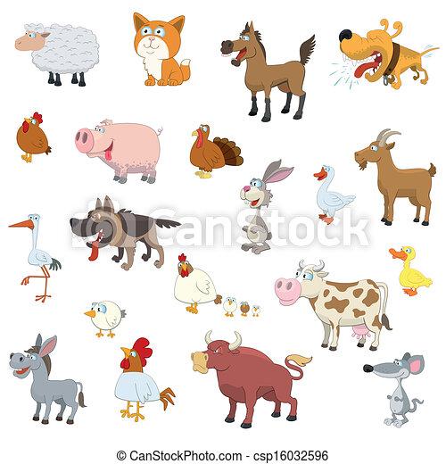 fazenda, jogo, animais - csp16032596