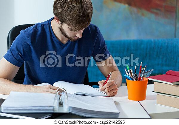 fazer anota, estudante - csp22142595