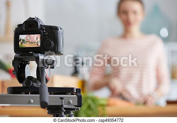 fazer, cozinhar, vlog - csp49354772