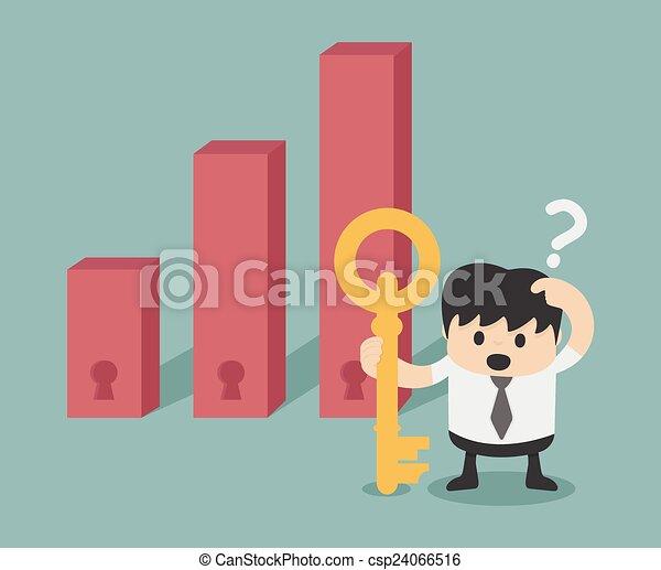 fazer, decisão, investir - csp24066516