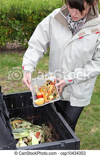 fazer, legumes, mulher, antigas, composto - csp10434353
