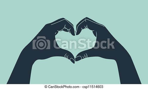 fazer, mão, amor, sinal - csp11514603
