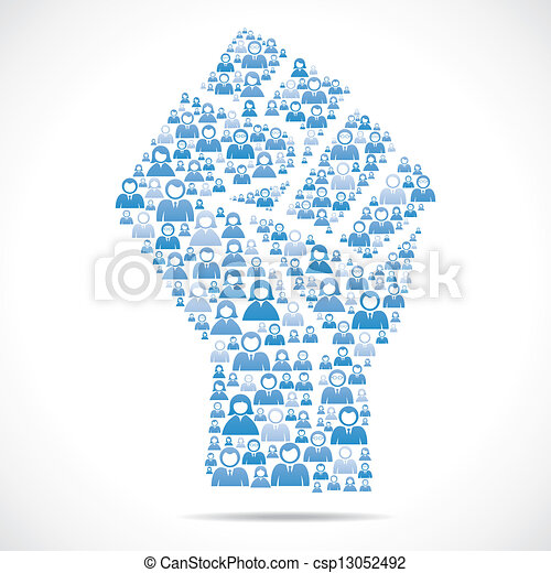 fazer, mão, grupo, unidade, pessoas - csp13052492