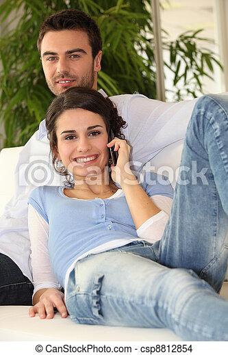 fazer, par, chamada - csp8812854