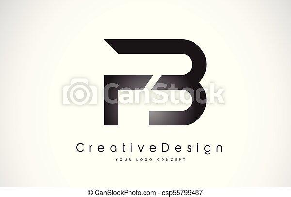 fb f b letter logo design creative icon modern letters vector logo