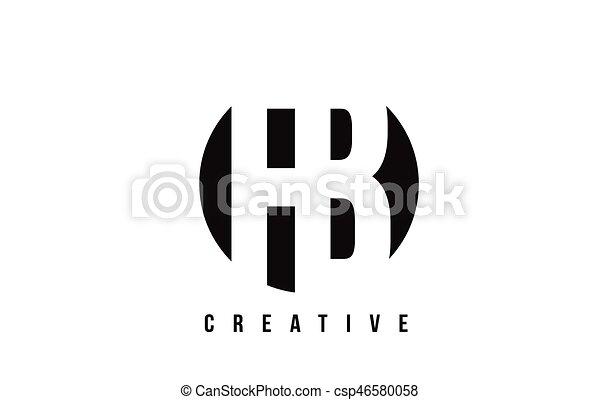 Fb F B White Letter Logo Design With Circle Background Fb F B White