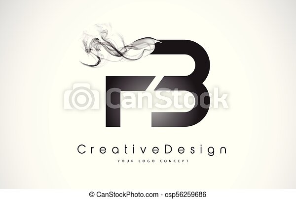 Fb Letter Logo Design With Black Smoke Creative Modern Smoke