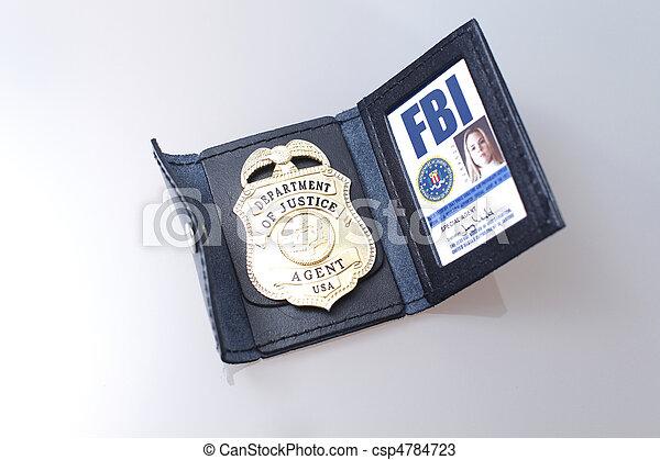 fbi, abzeichen - csp4784723