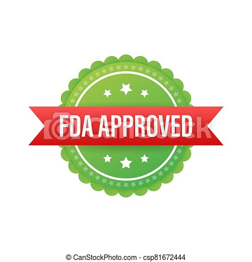 FDA approved grunge rubber stamp on white background. Vector illustration. - csp81672444