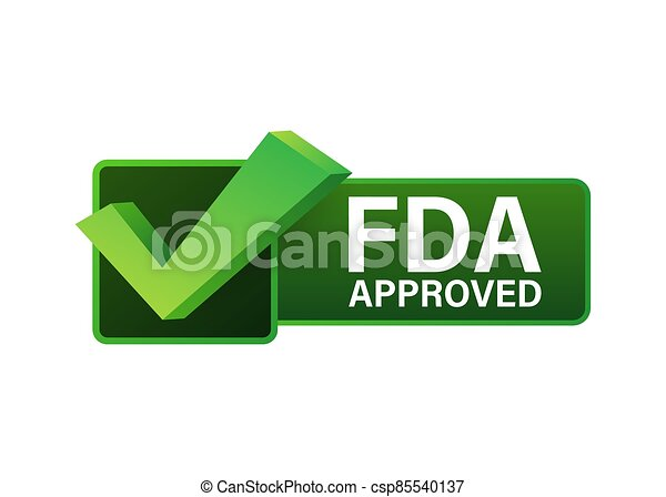 FDA approved grunge rubber stamp on white background. Vector illustration. - csp85540137