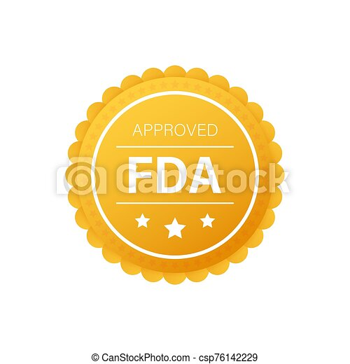 FDA approved grunge rubber stamp on white background. Vector illustration. - csp76142229