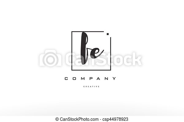 Fe F E Hand Writing Letter Company Logo Icon Design Fe F E Hand