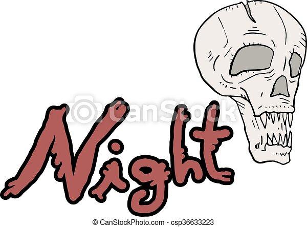 fear night symbol - csp36633223