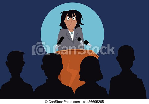 Fear of public speaking - csp36695265