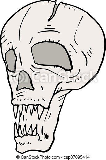 fear skull - csp37095414