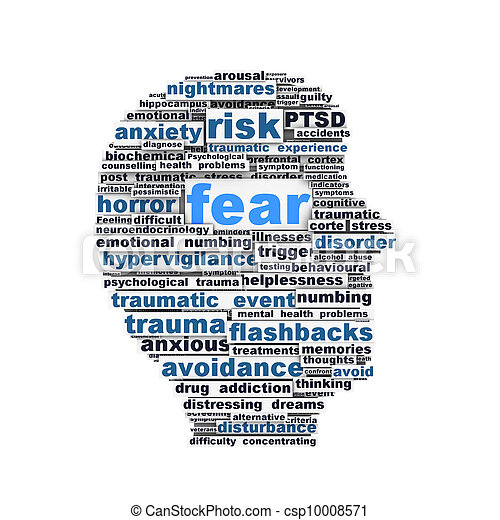 Fear symbol conceptual design - csp10008571