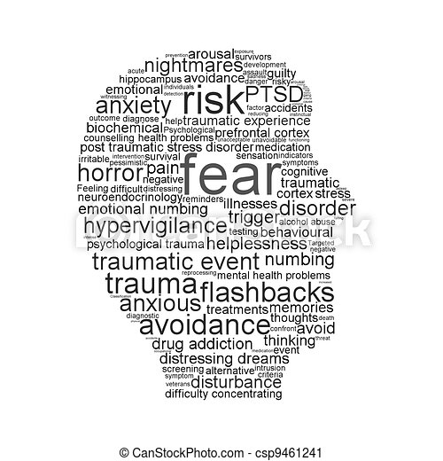 Fear Symbol Isolated On White Background Psychological Symbol