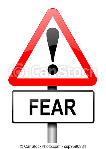 Fear warning concept. - csp9590334