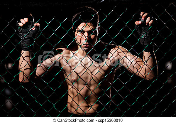 Fearles MMA Fighter ready to fight - csp15368810