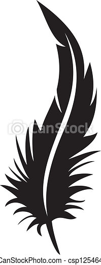 feather silhouette - csp12546447