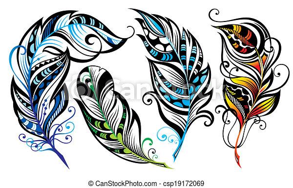 Feathers - csp19172069