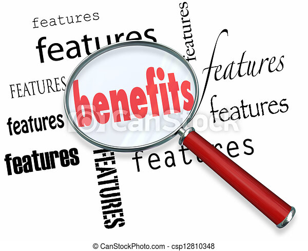 Features vs Benefits How to Sell Core Sales Principle - csp12810348