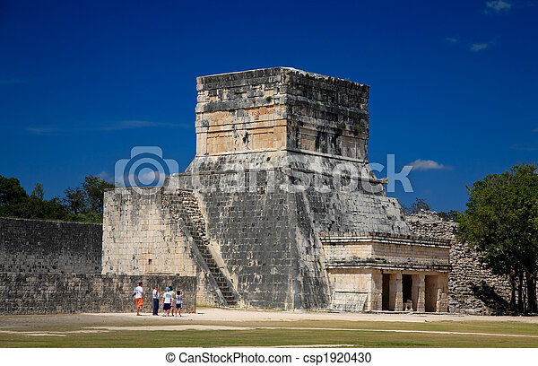 Feb 19, 2009 in Chichen Itza  Mexico: Tourists visiting the this top attraction in Mexico - csp1920430