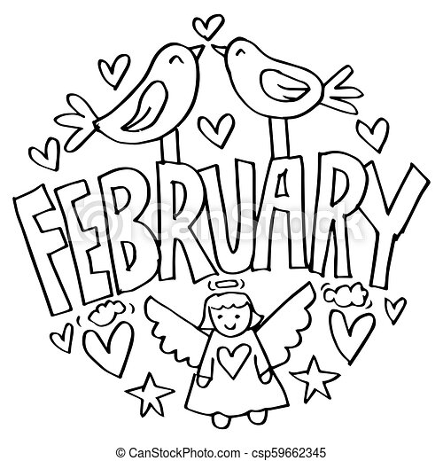 February Coloring Pages for Kids