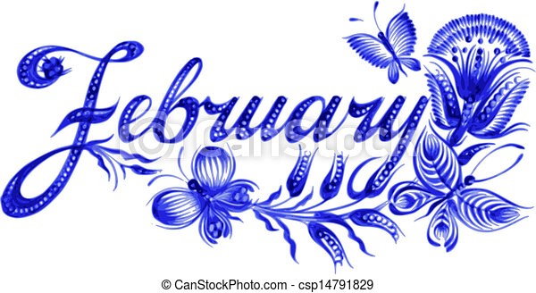 february the name of the month february name of the month hand