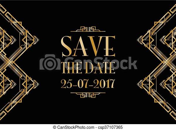 Guarda la invitación para la boda - csp37107365
