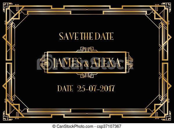 Guarda la invitación para la boda - csp37107367