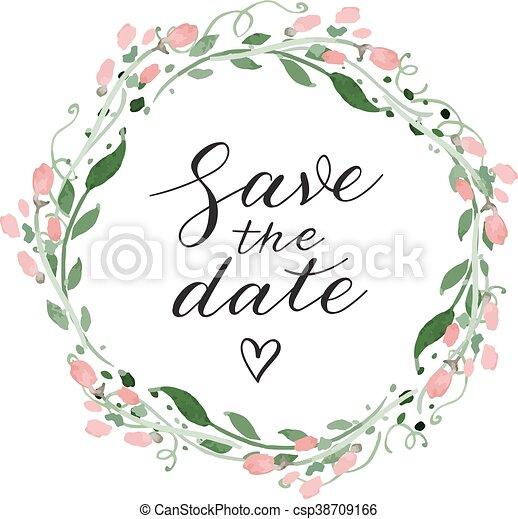 Guarda la invitación para la boda - csp38709166
