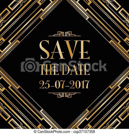 Guarda la invitación para la boda - csp37107358