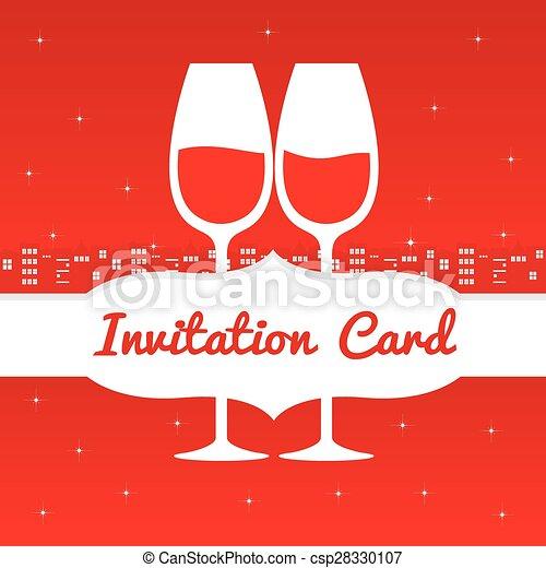 Guarda la tarjeta de invitación para la cita. - csp28330107