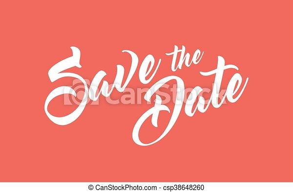 Salva la fecha - csp38648260