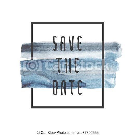 Salva la fecha - csp37392555