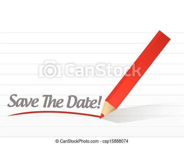 Ahórrate la letra de fecha - csp15888074