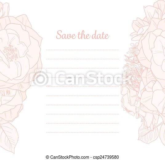 Monocromo, guarda la invitación para la cita - csp24739580