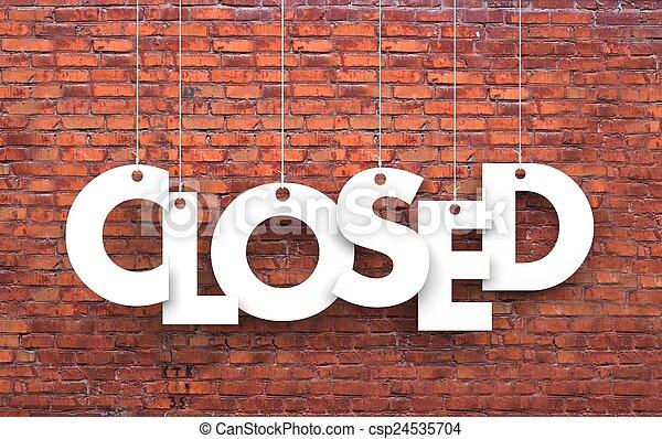 fechado - csp24535704