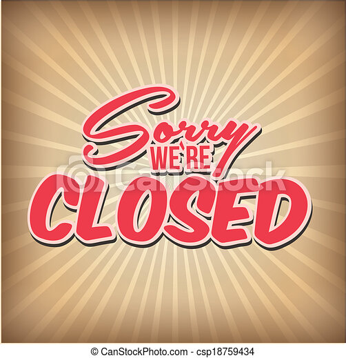 fechado - csp18759434