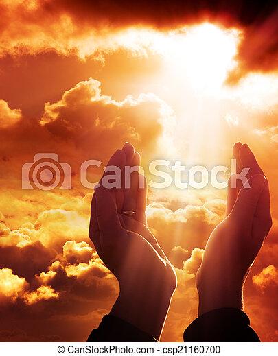 fede, -, preghiera, cielo, concetto - csp21160700