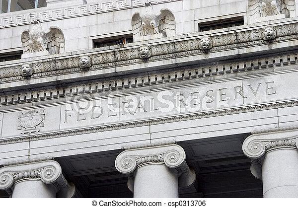 Federal Reserve Facade 2 - csp0313706
