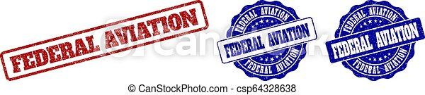 federale, aviazione, francobollo, grunge, sigilli - csp64328638