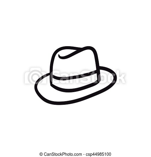 how to draw a fedora on a person