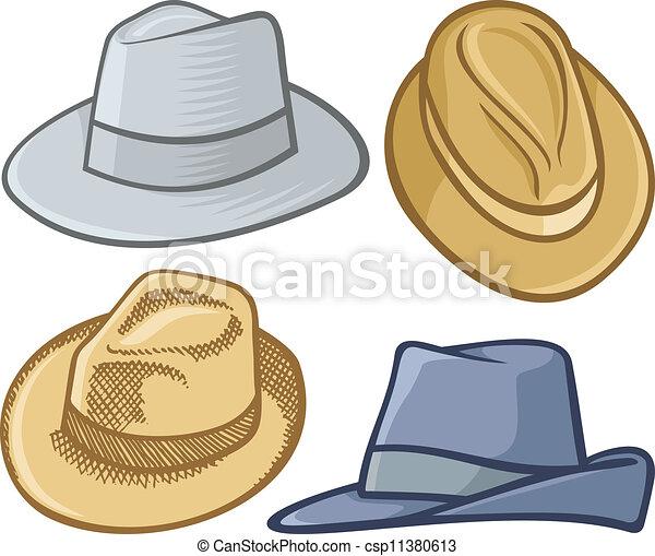 Free Clipart Black Women Wearing Hats Fedora hats. Fou...