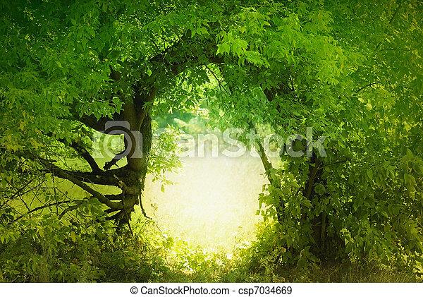 Tür zum Märchenland - csp7034669