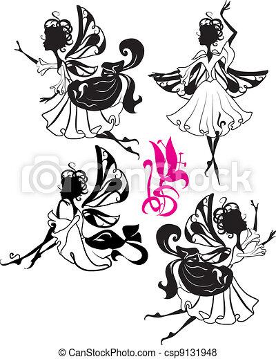 fee, silhouette - csp9131948