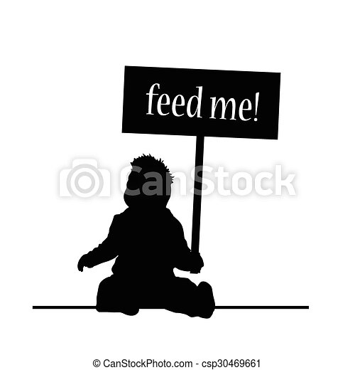 feed baby vector - csp30469661