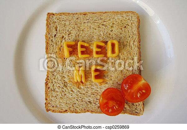 feed me words on toast - csp0259869