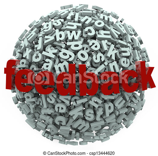 Feedback 3D Sphere Letters Input Comments - csp13444620